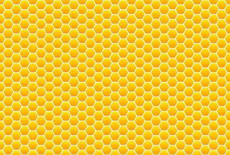 Geel-oranje honingraat patroon Stockfoto