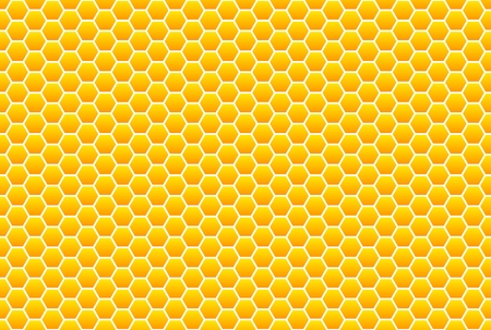 Yellow-orange honeycomb pattern photo
