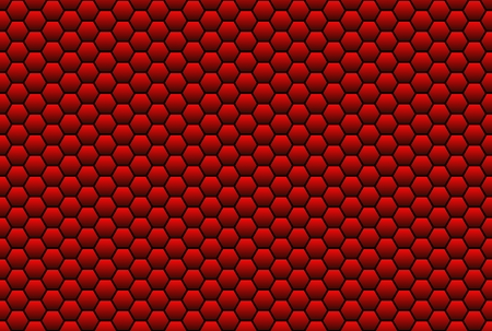napped: Red-black honeycomb pattern Stock Photo