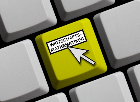 mathematician: Economic Mathematician online Stock Photo