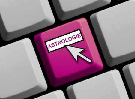 astrologer: Astrology online  Stock Photo