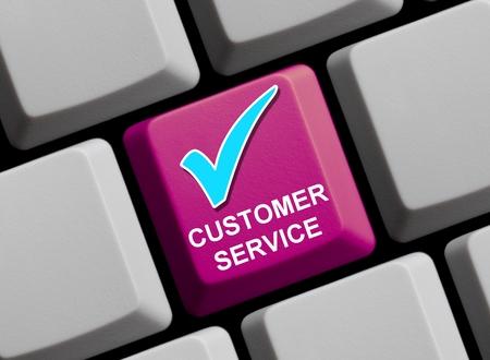 contentment: Customer service Stock Photo