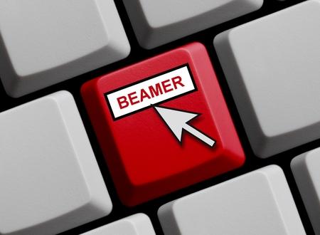 Beamer online Stockfoto