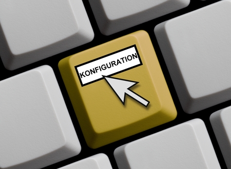 configuration: Configuration online Stock Photo