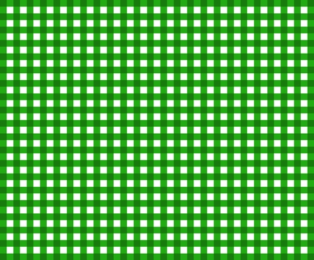 beer garden: Tablecloth pattern background checkered with green and white Stock Photo