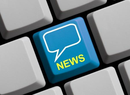 news online: News online Stock Photo