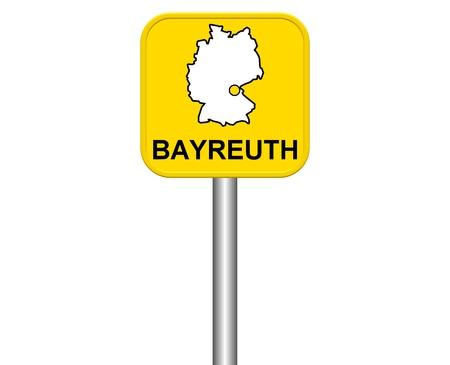 warmly: Sign of german city Bayreuth