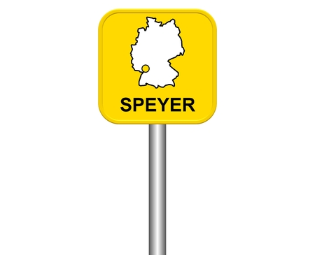 warmly: Sign of the german City Speyer