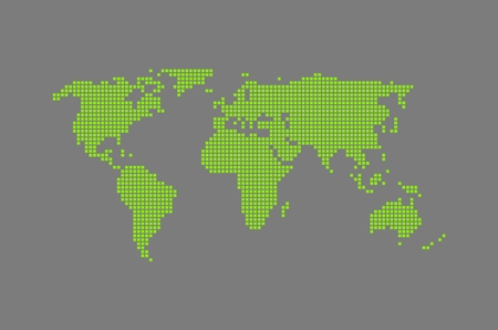 Modern World Map green   gray photo