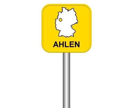warmly: Sign of german city Ahlen
