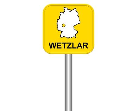 warmly: Sign of german city Wetzlar Stock Photo
