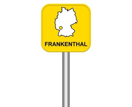 warmly: Sign of German city Frankenthal