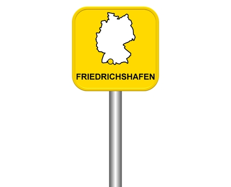 friedrichshafen: Sign of German city Friedrichshafen