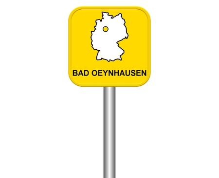 Sign of german city Bad Oeynhausen photo