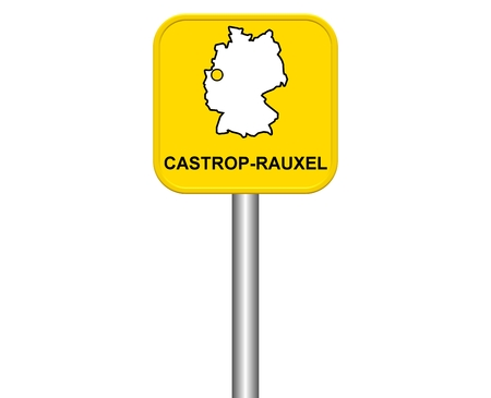 warmly: Sign of german city Castrop-rauxel Stock Photo