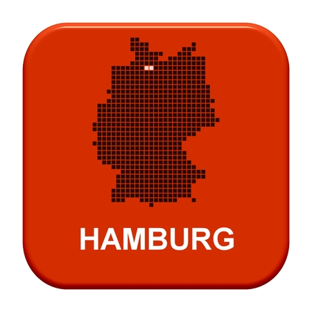 hamburg: Button Series german regions  Hamburg Stock Photo