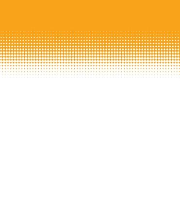 fading: Backgrund orange with fading dots