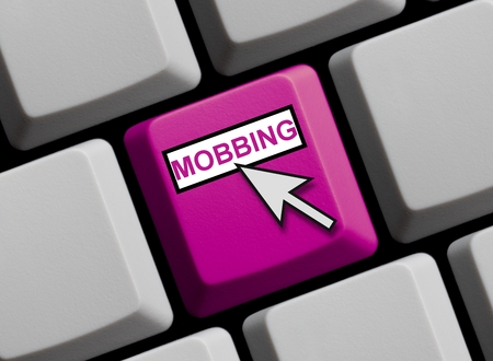 harass: Online Mobbing Stock Photo