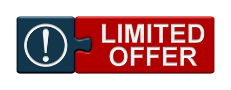 collectibles: Puzzle Button Limited Offer Stock Photo