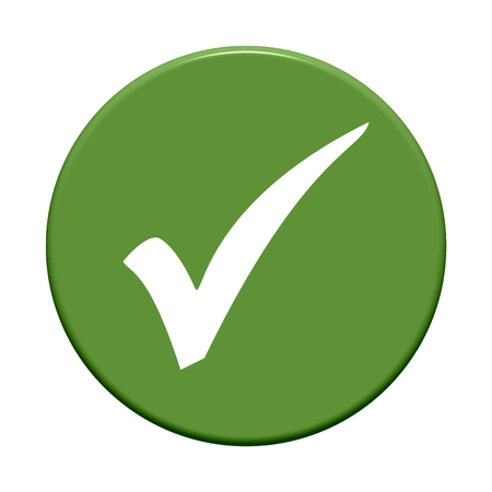 solvent: Button green okay Stock Photo