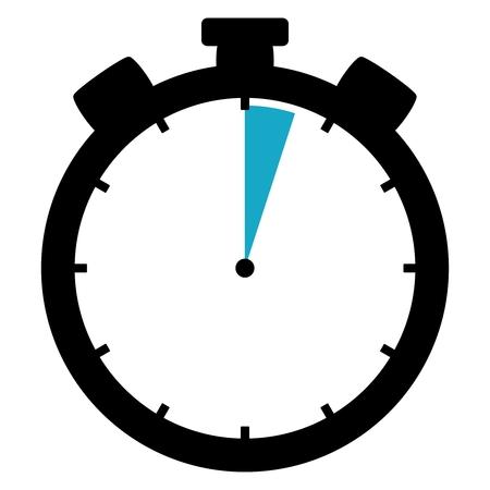 Stopwatch : 3 seconds / 3 minutes Stockfoto