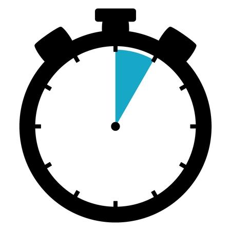 cronografo: Cron�metro: 5 segundos  5 minutos  1 hora Foto de archivo
