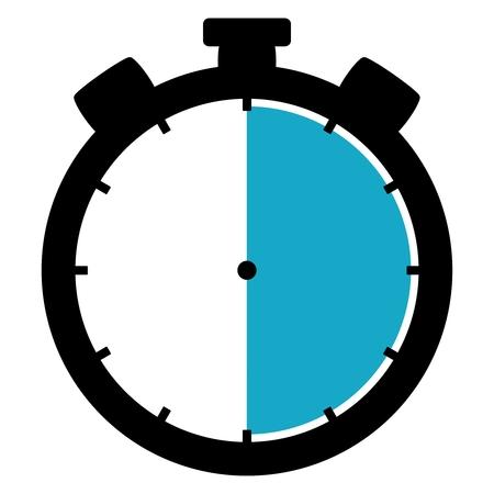 cronometro: Cron�metro: 30 Segundos  30 minutos  6 horas Foto de archivo