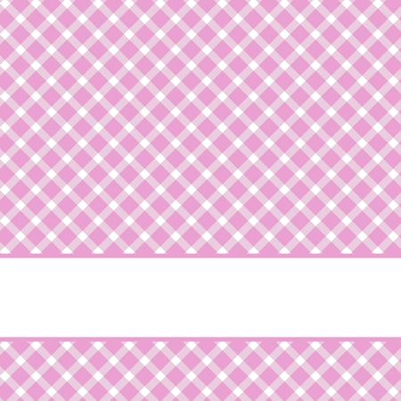 Checkered Vintage background pink with white space photo