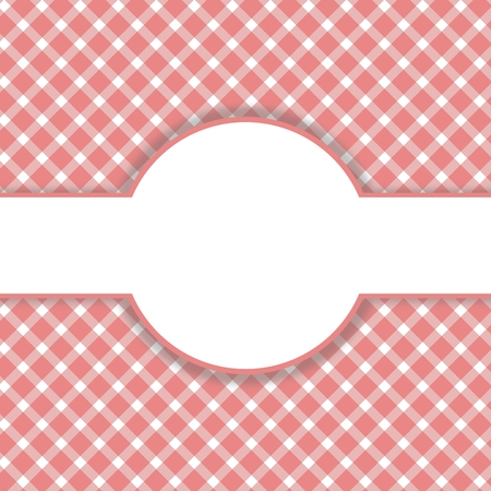 white cloth: Checkered red Vintage background with white space Stock Photo