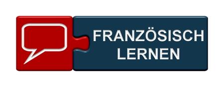 Button Puzzle imparare francese Archivio Fotografico - 33512082