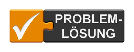 it support: Puzzle Button Problem solving Stock Photo