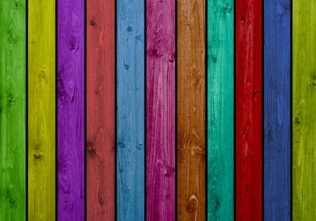 Colorful Wood Boards photo