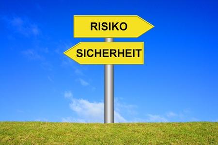 risky: Safety  Risky Stock Photo