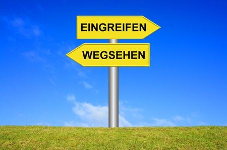 Courage - weg Schauen Standard-Bild - 32143626