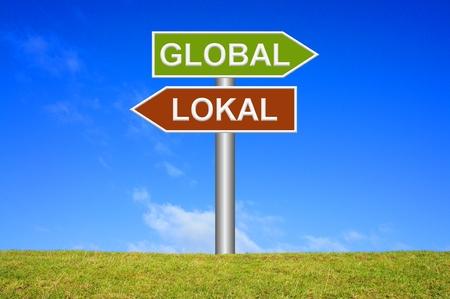 proximity: Global  Local Stock Photo