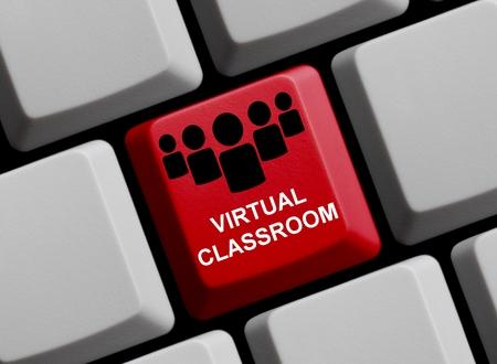 salle de classe: Salle de classe virtuelle Banque d'images