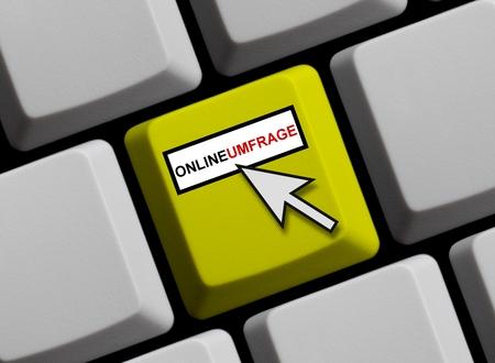 online survey: Online survey german Stock Photo