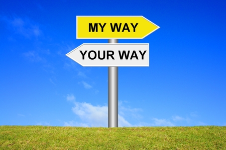 finding your way: Your way, my way