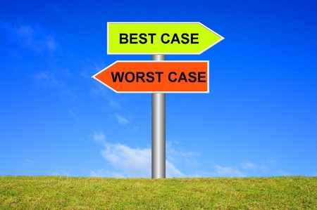 Sign: Best case - worst case photo