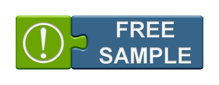free sample: Puzzle Button Free sample