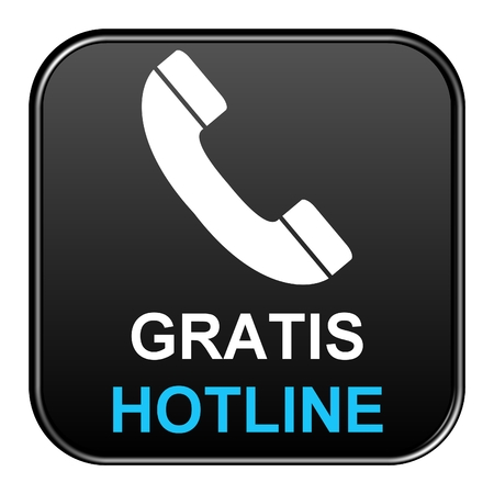 hotline: Black Button free Hotline Stock Photo