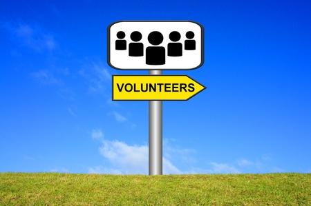 ortsschild: Sign of Volunteers