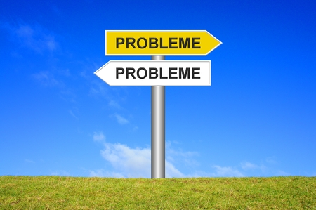 frustrating: Sign: Problems everywhere Stock Photo