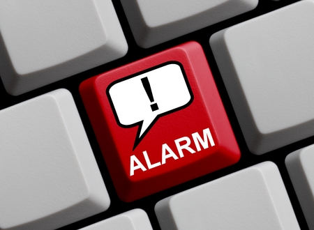 cry for help: Online Alarm Stock Photo
