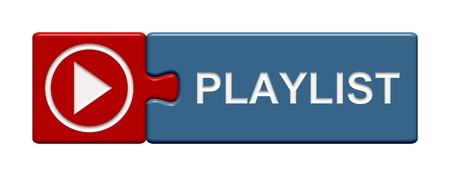 compilation: Isolated Puzzle Button with symbol showing Playlist