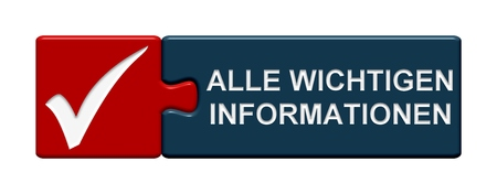 important information: Isolated Puzzle Button with symbol showing important information in german language Stock Photo