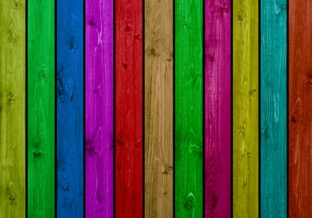 wooden boards: Wooden wall background with many colored wooden boards