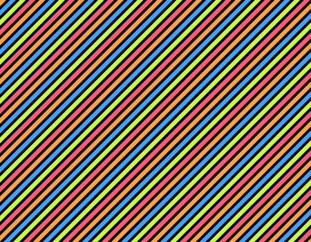 diagonal stripes: Black background with many colored diagonal stripes Stock Photo
