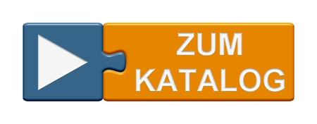 purchase order: Isolated Puzzle Button with symbol showing to catalog in german language