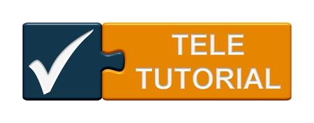 tele: Isolated Puzzle Button with symbol showing Tele Tutorial